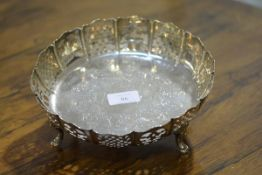 A mid-Victorian silver fruit bowl, Henry Wilkinson & Co., Sheffield 1864, of circular form, with