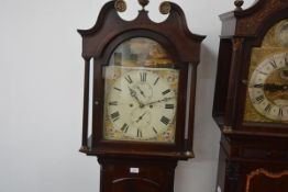An early 19th century Scottish mahogany longcase clock, the painted dial signed Jas. Ritchie,