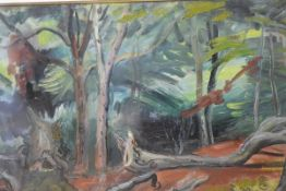 Cathleen Mann (1896-1959), Woodland Glade, signed lower right and daated 1956, oil on canvas,