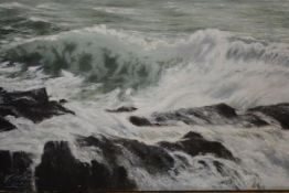 R. W. Watson (British, 19th/20th Century), Seascape, signed lower left, dated 1903, oil on canvas,
