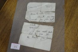 Clementine Churchill, a letter, from 10 Downing Street, dated February 1943, in thanks for a gift
