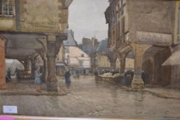"George Straton Ferrier R.S.W., R.I., (1852-1912), ""Dinan"", signed lower right and dated 1896, titled"