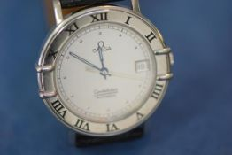 A gentleman's Omega Constellation Chronometer Automatic wristwatch, the silvered dial with dot