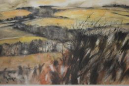Donald Buyers R.S.W. (Scottish, 1930-2003), Fields at Dusk, watercolour, signed and dated (19)87,