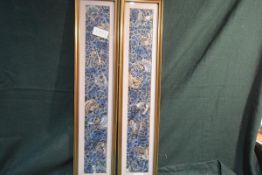 A pair of Chinese silk embroidered sleeve panels, early 20th century, each worked in shades of