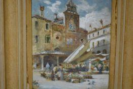 Charles James Lauder R.S.W. (Scottish, 1840-1920), San Giacomo di Rialto, Venice, watercolour,