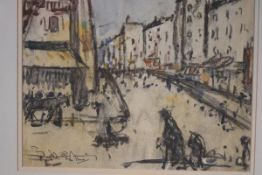 John Rankine Barclay (Scottish, 1884-1963), A Paris Street, signed lower left and inscribed,
