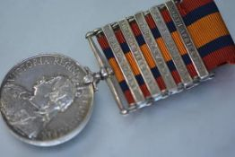 A Queen Victorian South Africa medal, with five bars, South Africa 1901 and 1902, Transvaal,