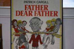 A 1970's Rank Organisation film poster, Father Dear Father, framed. 101cm by 68cm