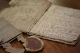 A 24pp. autograph manuscript dating 1695-1717, A Minute Book possibly for Fife and Kinross,