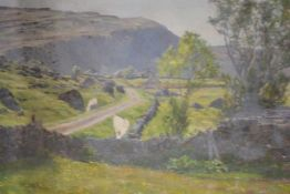 Scottish School, early 20th century, Gribun (Isle of Mull), unsigned, unfinished oil on canvas. 40cm