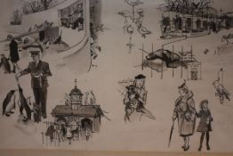 "Francis Marshall (1901-1980), ""The Chidrens' Zoo"", Sketches for ""London West"", (pub. Studio,"