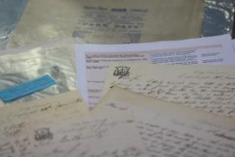 THEATRE ROYAL, EDINBURGH -- A collection of five autograph letters, signed, dated 14th, 17th,