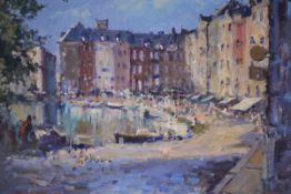 J. D. Henderson (Scottish, 20th Century), Reflections, Honfleur, signed lower left and dated (19)97,