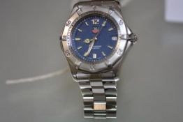 A Tag Heuer Professional 200 metres stainless steel gentleman's wristwatch with bracelet strap, ref.