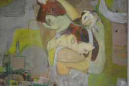 Sarah Chapman (Contemporary), Dancer and Reflection, signed lower right and dated (19)96, oil on