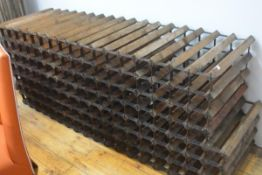 A large vintage double-sided wine rack. 76cm by 178cm by 53cm