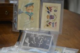 A group of nineteen Ja Ja Heraldic Series postcards of Scottish towns; together with three World War
