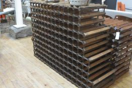 A large vintage double-sided wine rack. 168cm by 116cm by 54cm