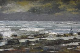 Adam Robson R.S.A., R.S.W. (Scottish, b. 1928), Passing Storm and Ebb Tide, signed lower right,