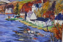 Margaret Ballantyne (Scottish, Contemporary), Kenmore, signed lower left, oil, framed. 23cm by 28cm