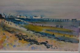 Fyffe Christie (British, 1918-79), Beach, signed lower right and dated August 1970, watercolour,