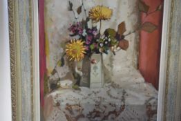 Robert William Begg (Scottish, 20th Century), Still Life with Chrysanthemums, signed lower right and