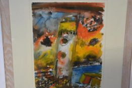 John Bellany CBE, RA, HRSA (Scottish, 1942-2013), Lighthouse III, signed top right, watercolour on