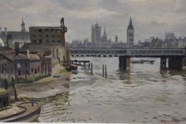 Stephen Bone N.E.A.C. (1904-1958), The Old Lion Brewery, signed lower right, oil on board, Fine