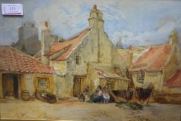 "Scottish School, early 20th Century, ""Cockenzie"", indistinctly signed lower left, inscribed and"