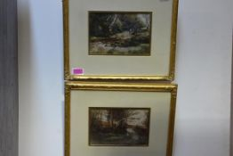 "John McNicol (Scottish, b. 1862), ""On the Carmel Water"" and ""Old Stewarton Road"", a pair of"