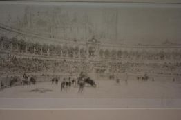After William Walcot R.B.A., R.E. (1874-1943), The Bullfight, etching, signed in pencil, framed,