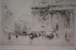 After William Walcot R.B.A., R.E. (1874-1943), N.W. Corner of St. Paul's (London), etching, signed