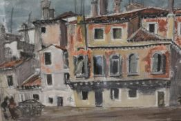 James Miller R.S.A., R.S.W. (Scottish, 1893-1987), A Venetian Backwater, watercolour, framed. 32cm