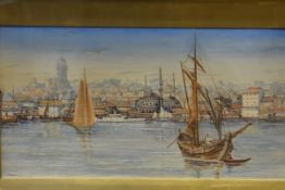W.D. Lyell (British, fl. 1900), A View of Constantinople, signed lower right and dated 1909,