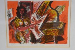 David McClure R.S.A., R.S.W. (Scottish, 1926-1998), Red Music Studio, lithograph, signed in pencil