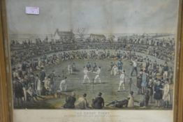 "After H. Heath, ""The Great Fight, between Broome and Hannan, for £1,000"", aquatint, engraved by"