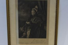 Queen Victoria: a photogravure by Annan & Sons, after a photograph by Hughes & Mullins, inscribed