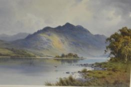 Donald Paton (British, 1879-1949), Loch Achray and Ben Venue, signed lower right, watercolour,
