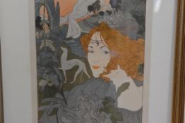 Georges de Feure (1868-1943), Le Retour du Chevalier, lithograph, signed and dated in the stone with