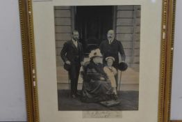 Queen Victoria; an albumen portrait photograph by John Chancellor of Dublin showing the Queen with
