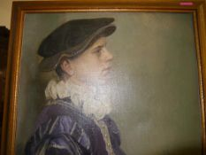 Manner of William Strang (Scottish 1859-1921), Portrait of a Young Man in Period Dress, oil on