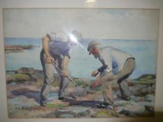 May Marshall Brown R.S.W. (Scottish 1887-1968), The Cockle Pickers, signed lower left,