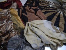 A group of eight vintage lady's silk scarves, 1960's/70's, various makers including Anne Klein,