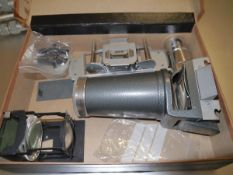 A box containing Leitz Wetzlar projection equipment to include Elmaron 1:2.2/15 lens; Color Plan 1: