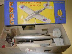 A Frog single seater fighter model aeroplane, in original box