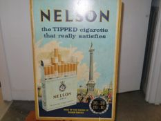 """A vintage advertising display poster, """"Nelson, the tipped cigarette......"""" 76cm by 51cm"""