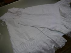 Two underskirts and a bed jacket (3)