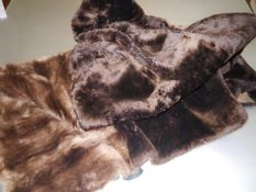 A brown beaver suede-lined blanket