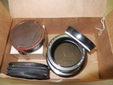 A collection of filters to include: Nikkor Polar 52mm in case; Cherry Vari-Cross 525; Nikon Polar